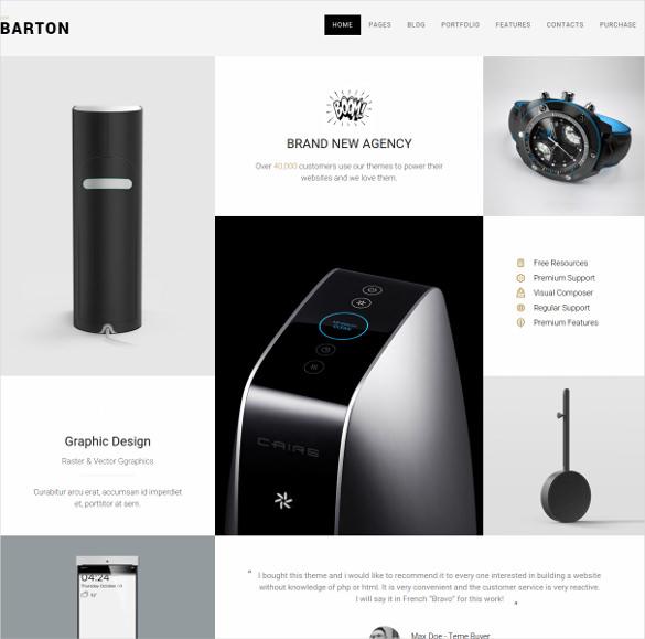 portfolio website theme for creative people