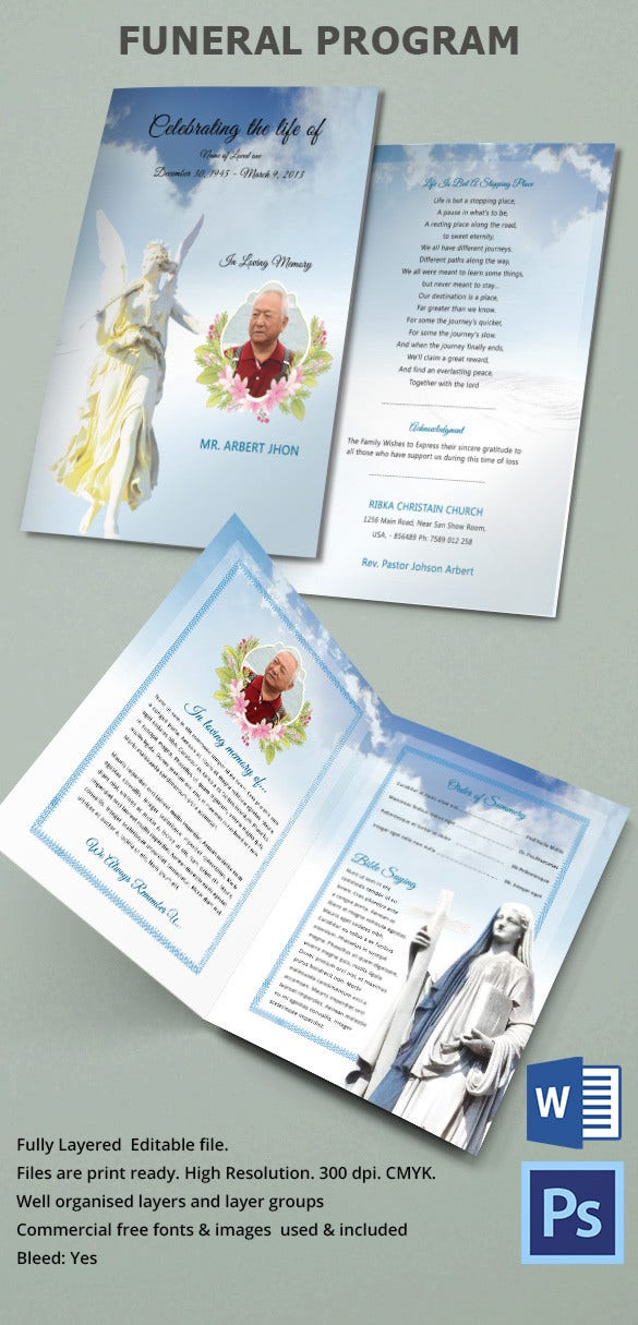 31 funeral program templates free word pdf psd documents download free premium templates. Black Bedroom Furniture Sets. Home Design Ideas