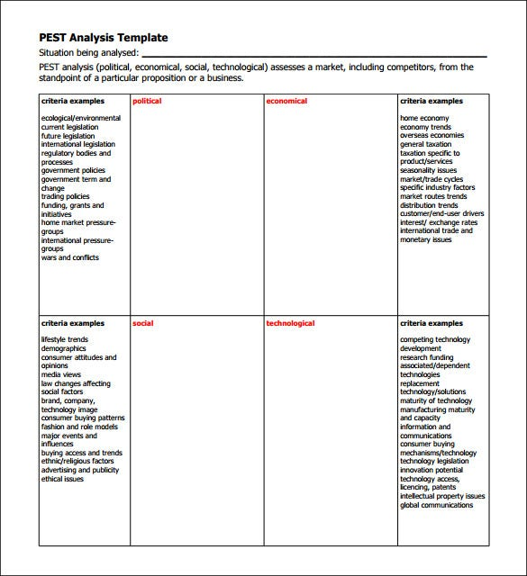 Industry Analysis Template - 9+ Free Word, Pdf Format Download
