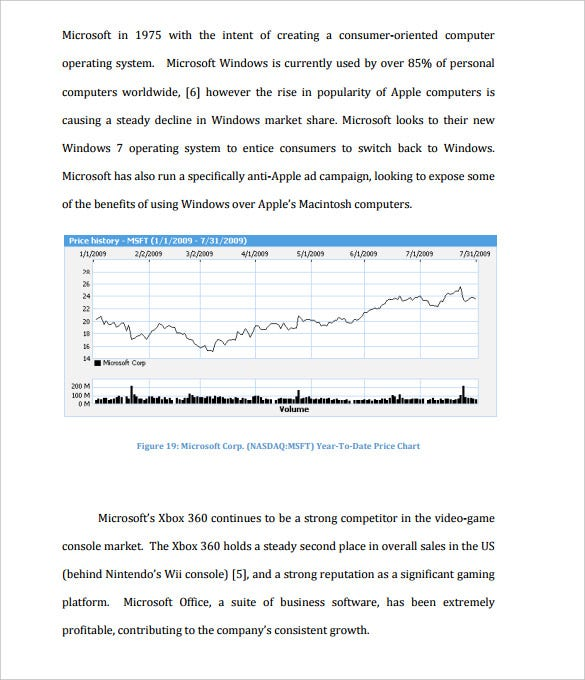 Stock Analysis Templates   Free Word  Format Download