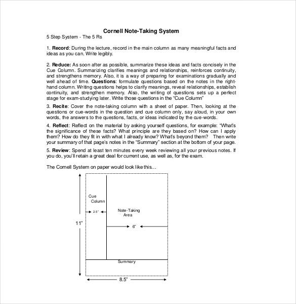 teaching cornell note taking3