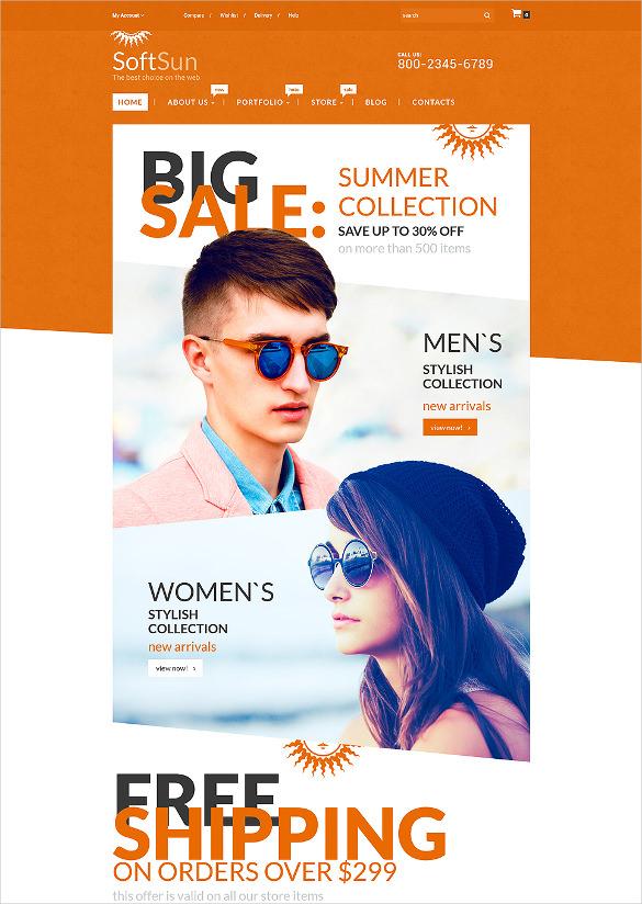 fashion sunglasses blog theme
