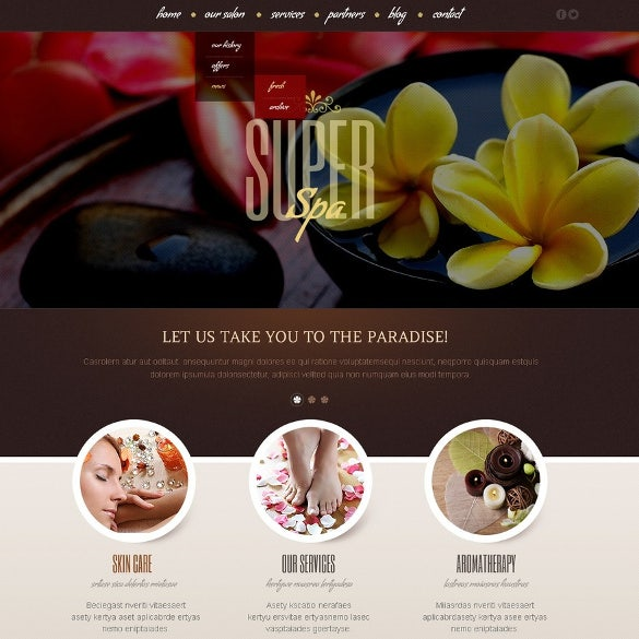 beauty salon wordpress them