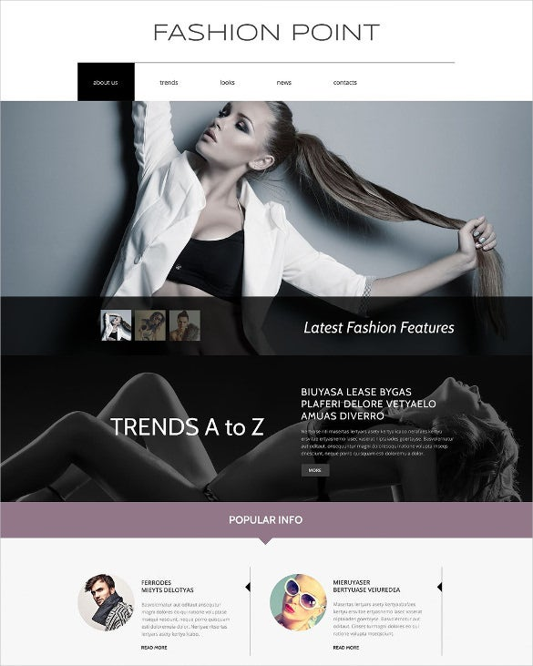 fashion agency drupal theme