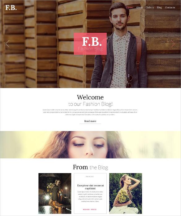 fashion blog wordpress theme1