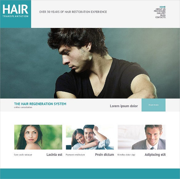 amazing hair salon responsive wordpress theme