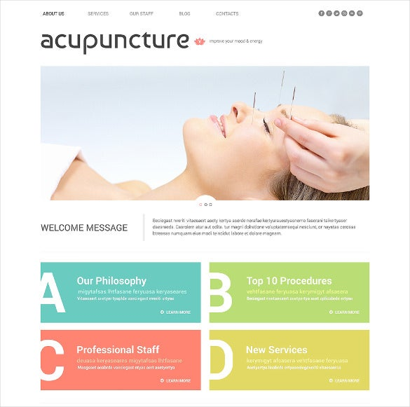 acupuncture massage salon wordpress theme