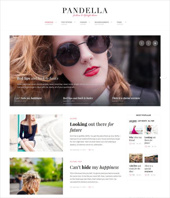 fashion lifestyle blog theme