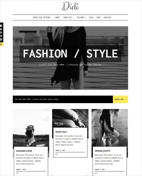 personal fashion blog wordpress theme