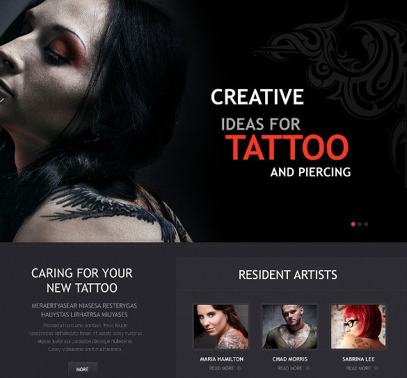 tattoo art salon wordpress theme