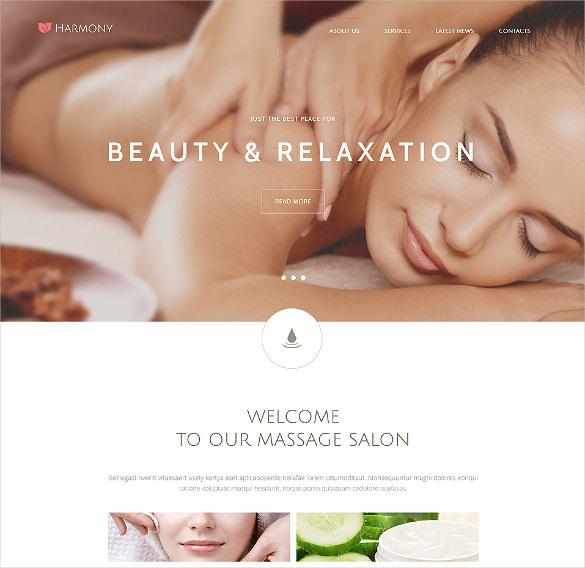 harmony massage salon joomla template
