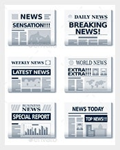 Vector-EPS-Format-Newspaper-Headline-Template-