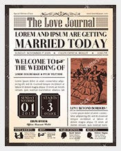 Wedding-Invitation-Old-Newspaper-Template-Download