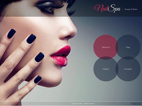 nail salon responsive joomla template