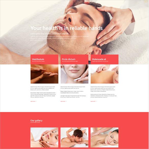 massage salon joomla template