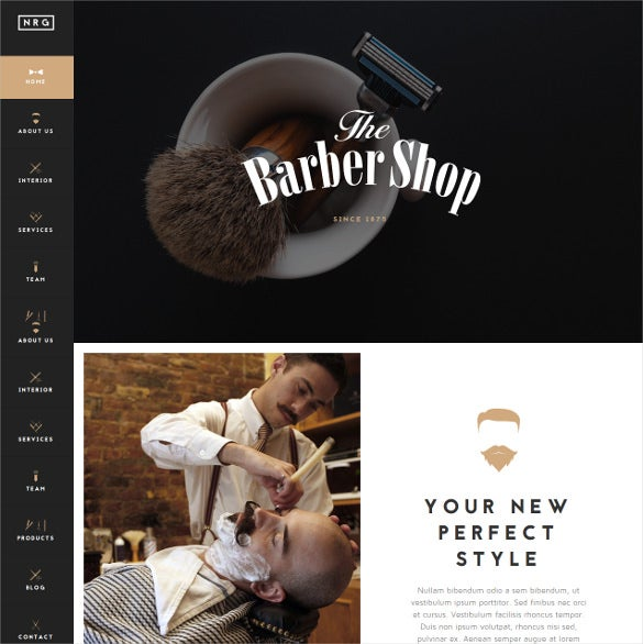 hairdressers barbershops coiffeurs salon joomla theme
