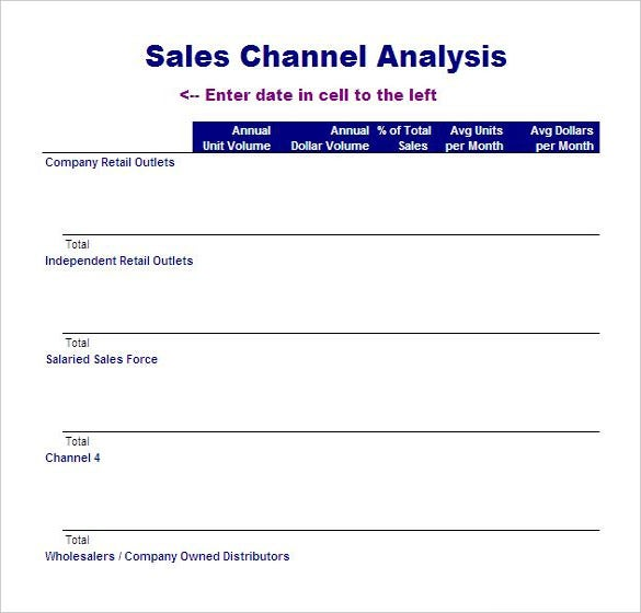 Lovely Free Download Sales Channel Analysis Template