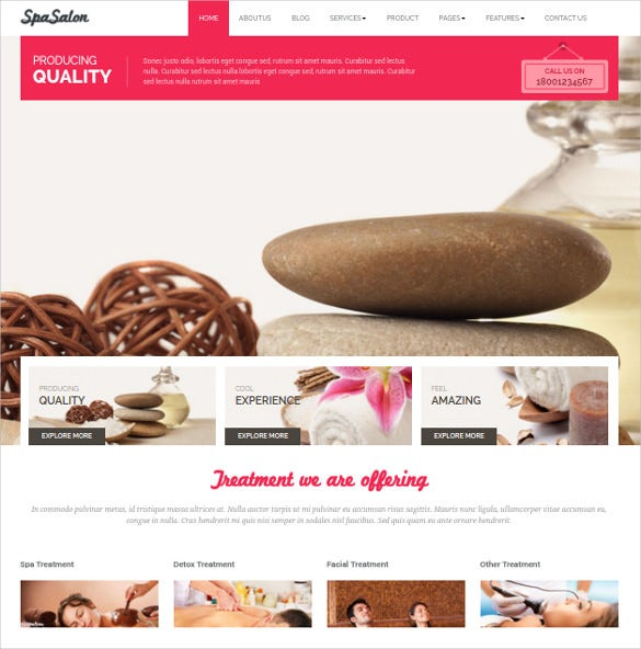 spa beauty salon wordpress themes