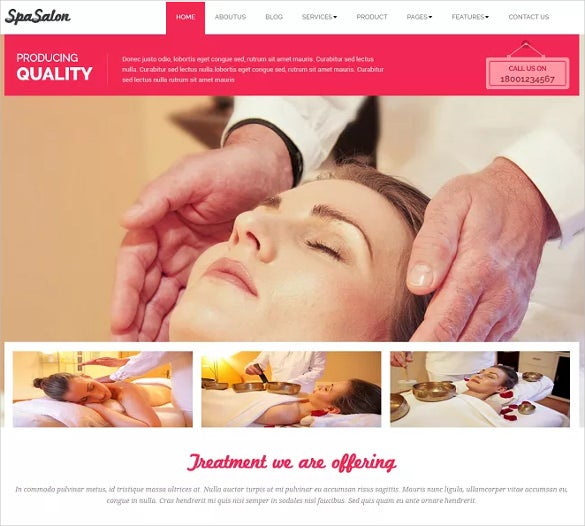 beauty spa salon wordpress template