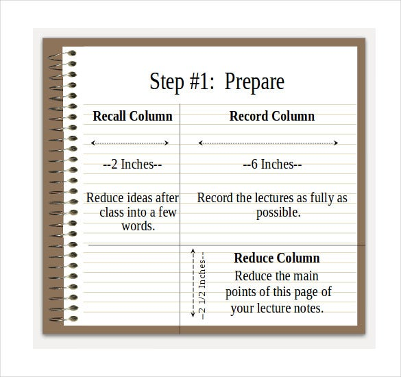 Cornell Notes Powerpoints  Free Sample Example Format