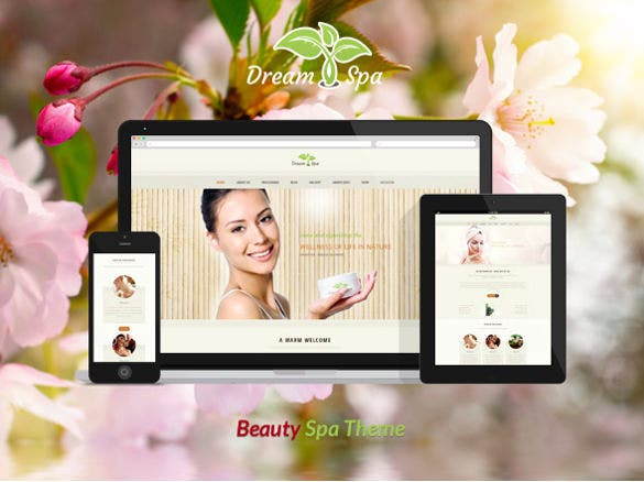 dream spa beauty salon wordpress theme