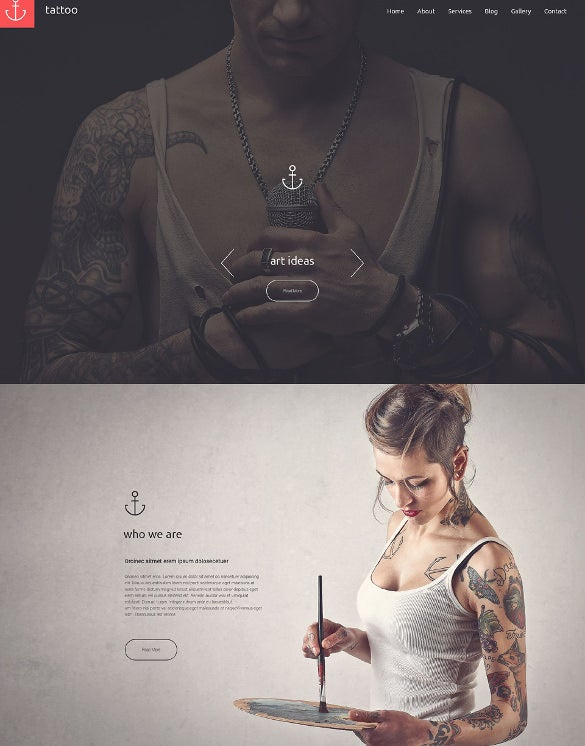 tattoo salon drupal template