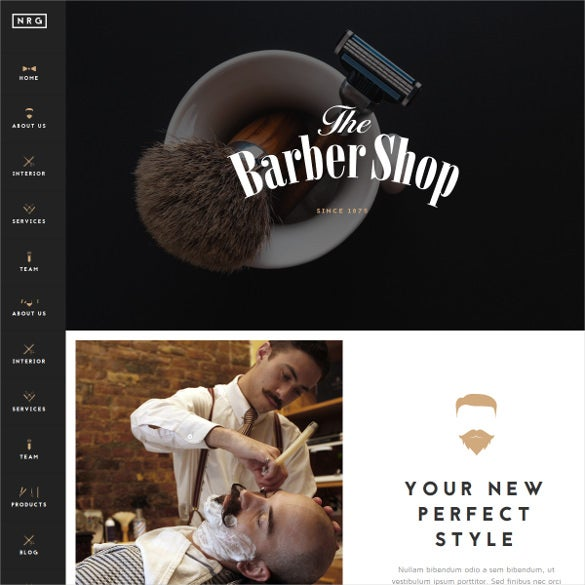 hairdressers barbershops coiffeurs drupal theme