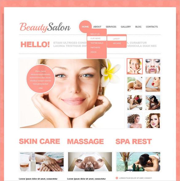 free beauty salon drupal template