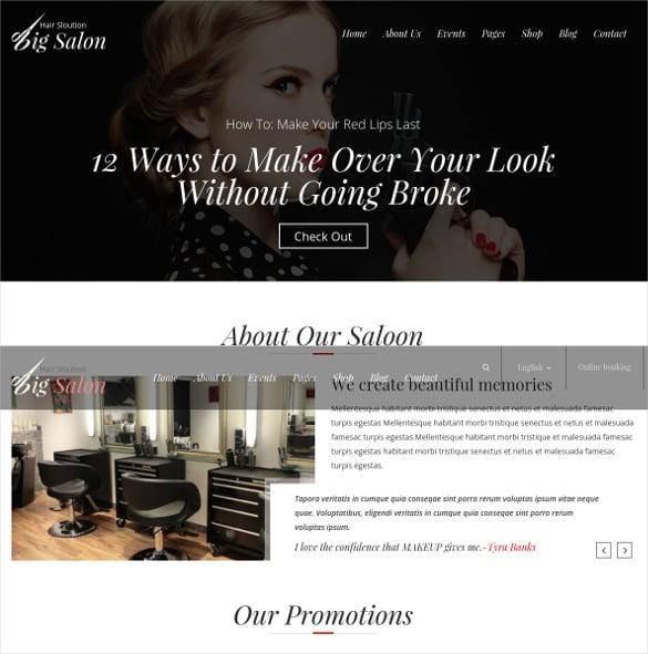 beauty barber salon blog template