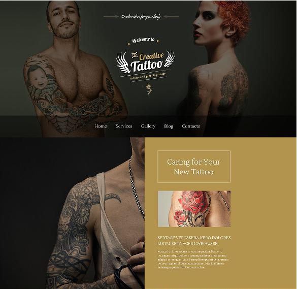 creative tattoo wordpress blog theme
