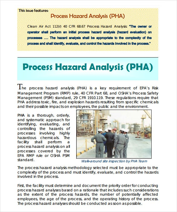 Free Download Process Hazard Analysis Template  Hazard Analysis Template