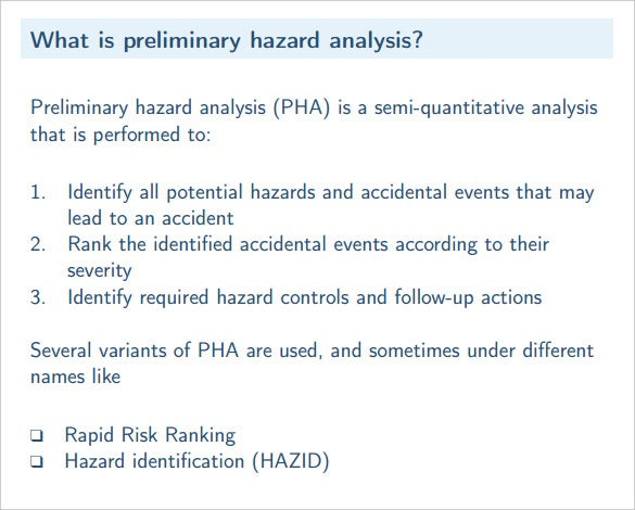 free preliminary hazard analysis template pdf format