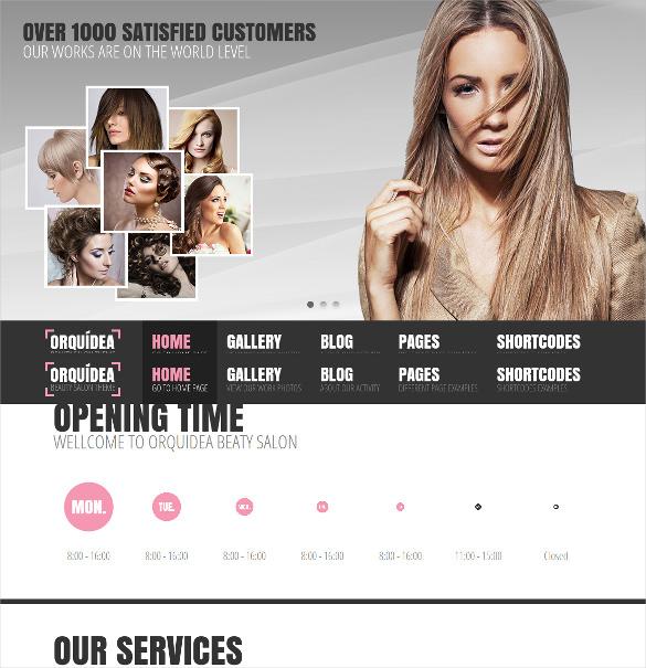 beauty salon responsive wordpress blog theme