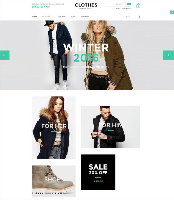 online clothes fashion store virtuemart theme