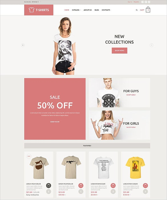 t shirt fashion store virtuemart template