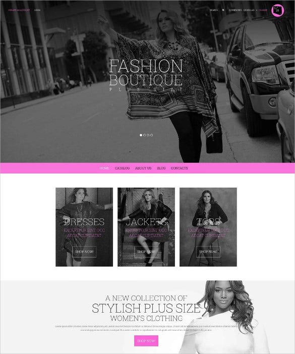 curvy fashion boutique virtuemart theme1
