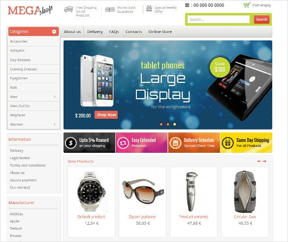 online fashion store virtuemart theme
