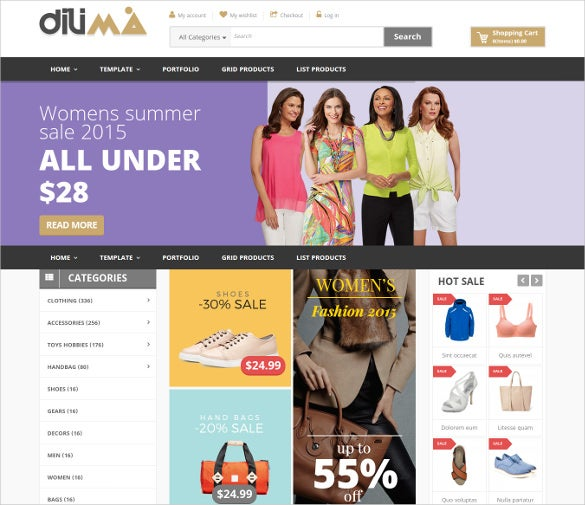multi purpose fashion virtuemart template