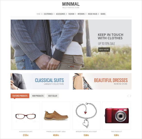 minimal fashion store virtuemart theme