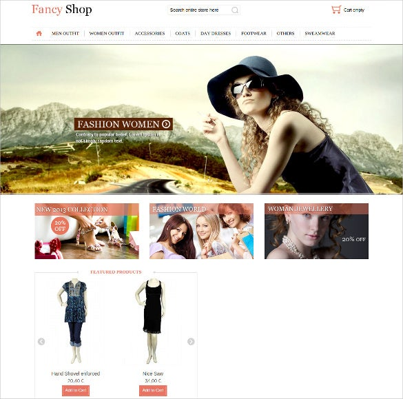 simple fashion fancy shop virtuemart template