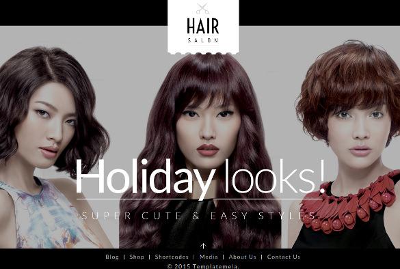 hair salon woocommerce responsive html5 theme