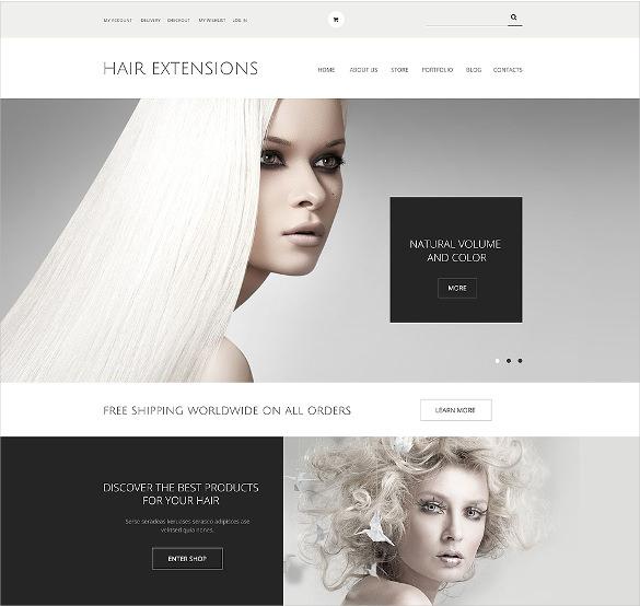 hair extensions salon woocommerce html5 theme