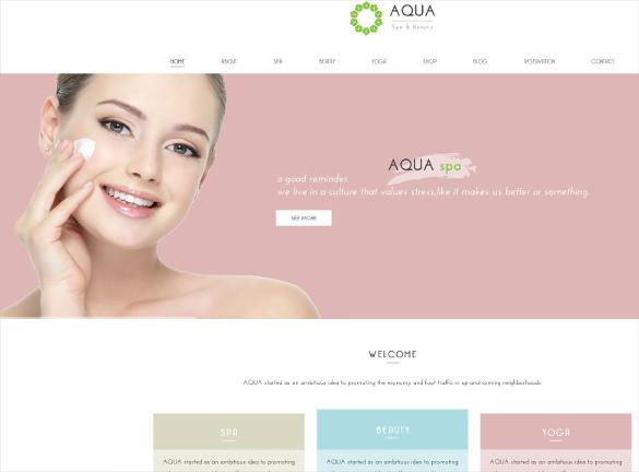 spa beauty html5 template