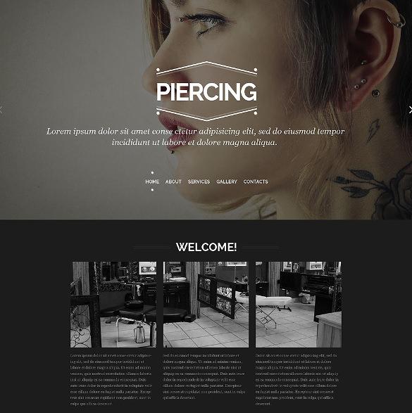 tattoo salon responsive website html5 template