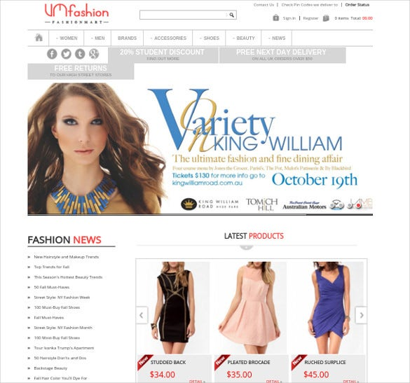 joomla fashion virtuemart template
