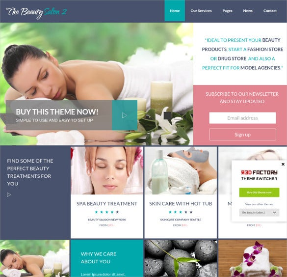 the beauty salon bootstrap theme