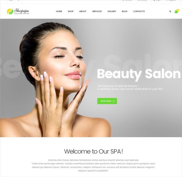 spa salon responsive magento bootstrap theme