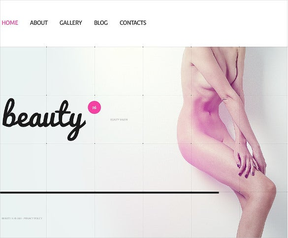 beauty salon website bootstrap template