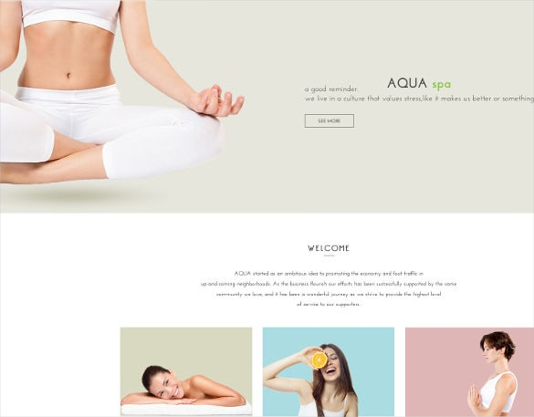 spa and beauty html5 bootstrap template