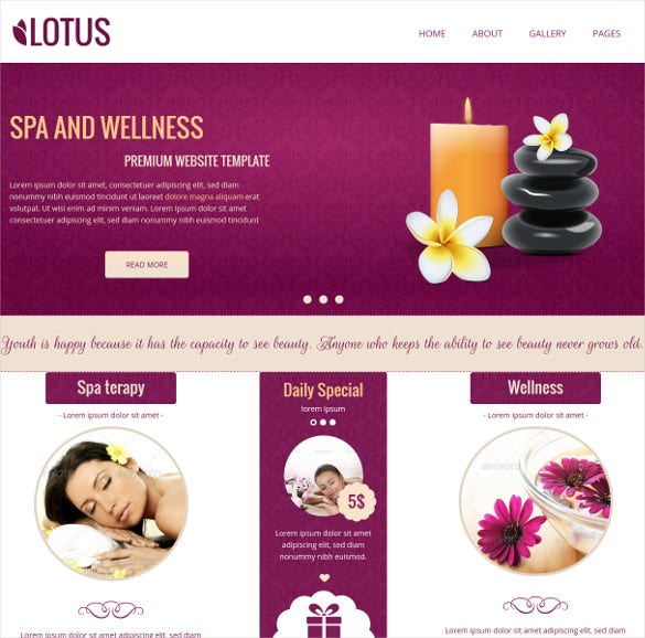 spa wellness concrete bootstrap theme